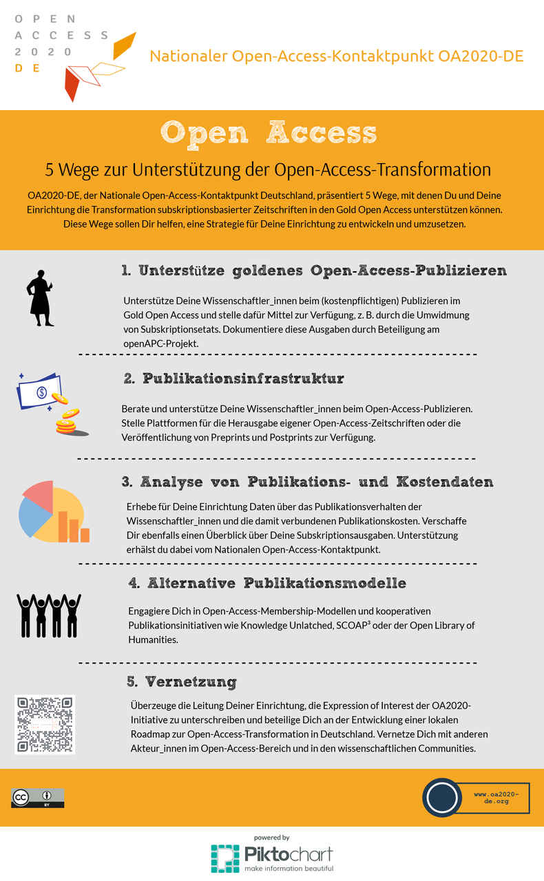 infografik 5 wege der open access transformation